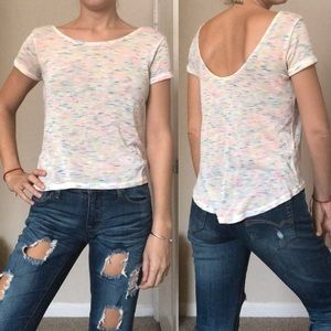 FOREVER 21 🌸 multicolor knit scoop top